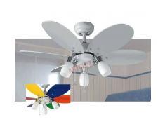 SULION Ventilador de techo 92cm, oferta colección tones blanco con luz.