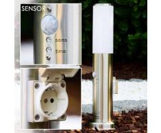 Caserta Lámpara de pie para exterior Acero inoxidable, 1 luz - - Moderno/Diseño - Zona exterior - - 2 - 4 días laborables .