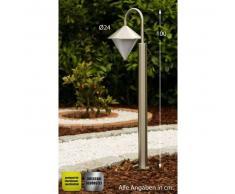 Kasan Lámpara de pie para exterior Acero inoxidable, Blanca, 1 luz - - Moderno/Diseño - Zona exterior - - 2 - 4 días laborables .