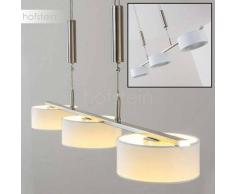 Honsel Nele Lámpara colgante LED Níquel-mate, 3 luces - 1350 Lumen - Diseño - Zona interior - 3000 Kelvin - 2 - 4 días laborables .