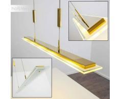 Honsel Lapis Lámpara colgante LED Latón, dorado, 5 luces - 1800 Lumen - Moderno/Diseño - Zona interior - 3000 Kelvin - 4 - 8 días laborables .