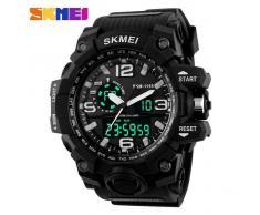 SKMEI 1155 50M impermeable reloj deportivo multifuncion - negro
