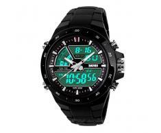 SKMEI 1.016 reloj deportivo analogico + digital impermeable - Negro