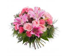 Ramo variado con rosas y lilium - Env?o de Flores a Domicilio
