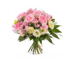 Ramo en tonos rosas - Flores a Domicilio