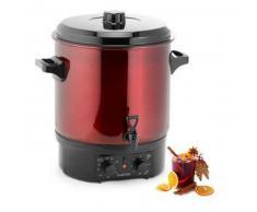 klarstein Biggie Olla pasteurizadora Acero inoxidable 27 litros 2000W Temporizador rojo