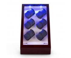 klarstein Klingenthal Estuche para relojes Rotación hacia derecha e izquierda 12 relojes LED Táctil Caoba Caoba