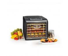 klarstein Fruit Jerky Plus 6 Deshidratador Automatico Temporizador 6 Rejillas bandejas 420-500W negro 6 bandejas