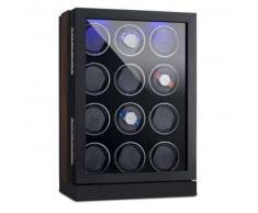 klarstein Klagenfurt Estuche para relojes rotación hacia derecha e izquierda 12 relojes LED Pantalla táctil