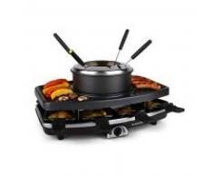 klarstein Entrecote Raclette con grill Piedra natural Fondue 1100W 8 personas