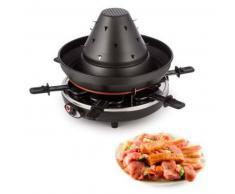 klarstein Taste Volcano Grill-Raclette, 1500 W, 6 personas, en negro