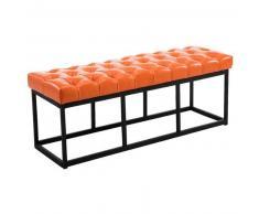 CLP Banco Amun B120 tapizado de cuero sintético metal naranja 46 cm