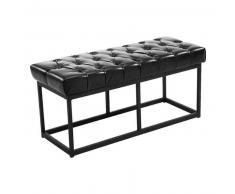 CLP Banco Amun B100 tapizado de cuero sintético metal negro 46 cm