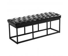 CLP Banco Amun B120 tapizado de cuero sintético metal negro 46 cm