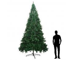 VidaXL Árbol de navidad artificial XXL 400 cm verde