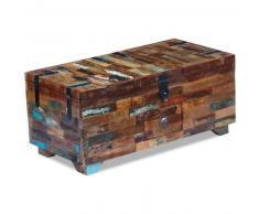 VidaXL Mesa de centro cofre madera maciza reciclada 80x40x35 cm
