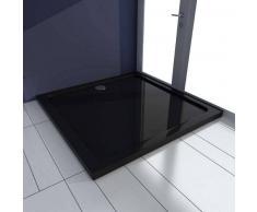 VidaXL Plato de ducha cuadrado ABS, color negro, 90 x cm