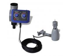 VidaXL Programador de riego automático con sensor lluvia y una salida