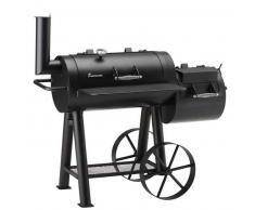 Landmann Ahumador de barbacoa Tennessee 400 78x39 cm negro 11404
