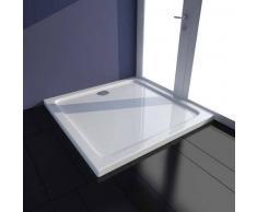 VidaXL Plato de ducha cuadrado ABS, color blanco, 80 x cm