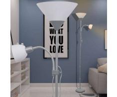 VidaXL lámpara de pie gris