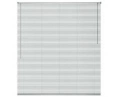 VidaXL Persiana aluminio 120x130 cm plateada
