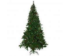 VidaXL Árbol De Navidad Artificial Con Piña 210cm