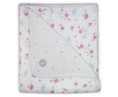 Jollein 410229 Manta de mullido bebé floreciente 120x120 cm Rosa 521-557-65058