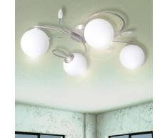 VidaXL Lámpara colgante con bolas de cristal acrílico 4 bombillas G9