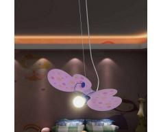 VidaXL Lámpara de techo infantil para niñas, modelo mariposa