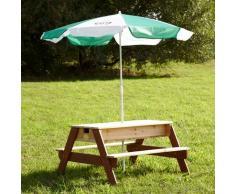 AXI Mesa de picnic infantil Nick con arena/ agua + sombrilla, marca