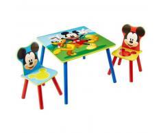 Disney Juego de mesa y sillas 3 pzas Mickey Mouse madera WORL119014