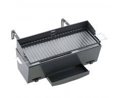 Landmann Barbacoa de carbón para balcón 49x18 cm negra 11900