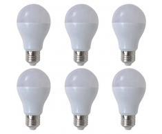 VidaXL Bombilla LED, E27, 6 unidades , blanco cálido, 7W
