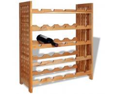 VidaXL Botellero de madera maciza nogal 64x25x76 cm