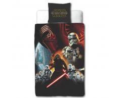 Disney Juego funda edredón infantil Star Wars 200x140 negro DEKB930118