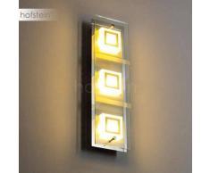 Mahdia Aplique LED Níquel-mate, Cromo, 3 luces - 1260 Lumen - Diseño - Zona interior - 3000 Kelvin - 2 - 4 días laborables .