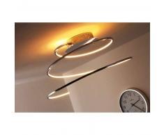 Ringos Lámpara de techo LED Cromo, 1 luz - 1300 Lumen - Moderno/Diseño/vivienda Juvenil/Fun - Zona interior - 3000 Kelvin - 2 - 4 días laborables .