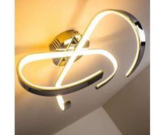 Cano Lámpara de techo LED Cromo, 1 luz - - Diseño - Zona interior - 3000 Kelvin - 2 - 4 días laborables .