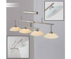 Honsel Lachs Lámpara colgante LED Níquel-mate, 4 luces - - Diseño - Zona interior - - 2 - 4 días laborables .