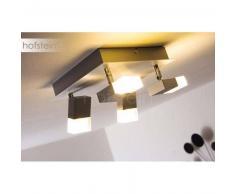Maracay Lámpara de techo LED Aluminio, 4 luces - 510 Lumen - Moderno - Zona interior - 3000 Kelvin - 2 - 4 días laborables .