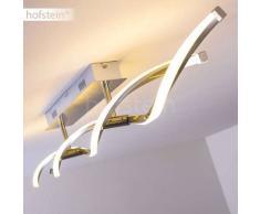 Dundas Lámpara de techo LED Acero inoxidable, 2 luces - 930 Lumen - Moderno/Diseño/vivienda Juvenil - Zona interior - 3000 Kelvin - 2 - 4 días laborables .