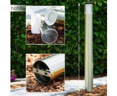 Leon Lámpara de pie para exterior LED Acero inoxidable, 1 luz - 320 Lumen - Moderno - Zona exterior - 3000 Kelvin - 8 - 12 días laborables .