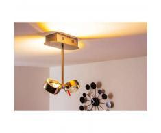 Florenz Lámpara de techo LED Níquel-mate, 2 luces - 400 Lumen - vivienda Juvenil/Loft - Zona interior - 3000 Kelvin - 2 - 4 días laborables .