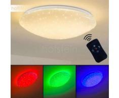 FOXES Lámpara de Techo LED Blanca, 1 luz - 1650 Lumen - Moderno - Zona interior - 3000/RGB Kelvin - 2 - 4 días laborables .