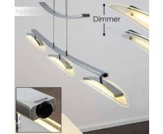 AKORDA Lámpara Colgante LED Cromo, 3 luces - 2400 Lumen - Moderno - Zona interior - 3000 Kelvin - 2 - 4 días laborables .