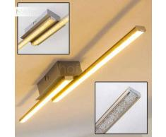 ANZAC Lámpara de Techo LED Níquel-mate, 1 luz - 490 Lumen - Moderno - Zona interior - 3000 Kelvin - 2 - 4 días laborables .
