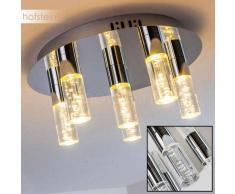 ENNADAI Lámpara de Techo LED Cromo, 6 luces - 1440 Lumen - Moderno - Zona interior - 3000 Kelvin - 2 - 4 días laborables .
