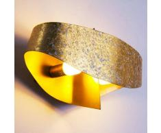 Padua Aplique LED dorado, 2 luces - 220 Lumen - Diseño/vivienda Juvenil/Loft - Zona interior - 3000 Kelvin - 2 - 4 días laborables .