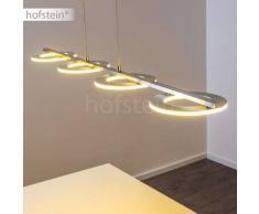 Rexton Lámpara colgante LED Níquel-mate, Cromo, 4 luces - 850 Lumen - Moderno - Zona interior - 3000 Kelvin - 2 - 4 días laborables .